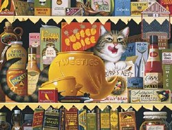 Charles Wysocki Cats Ethel Gourment 750 pc