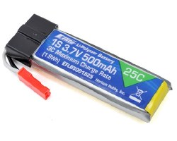 1S 25C LiPo Battery Pack (3.7V/500mAh) by E-flite