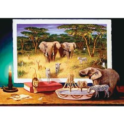 Nighttime Visitors 1000 Piece Puzzle