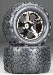 All-Star Black Chrome Wheels Talon Tires