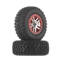 Tire/Wheel Assembly Glued Chrome Slash 4x4