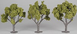 3 Assembled Tree Light Green 4-5""