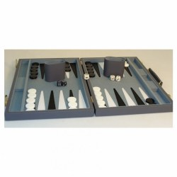Backgammon Set: 18 in. Grey Vinyl