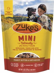 Mini Naturals Peanut Butter & Oats Recipe Dog Treats 6oz