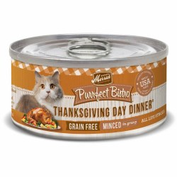 Purrfect Bistro Grain Free Minced Thanksgiving Day Dinner Canned Cat Food 5.5oz