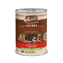 Chunky Big Texas Steak Tips Grain Free Canned Dog Food 12.7oz
