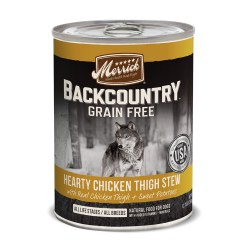 Backcountry Grain Free Chicken Thigh Stew Canned Dog Food 12.7oz