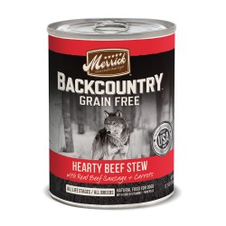 Backcountry Grain Free Hearty Beef Stew Canned Dog Food 12.7oz