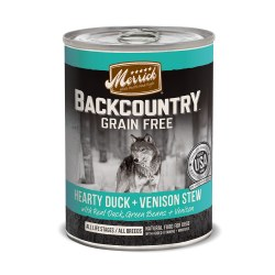 Backcountry Grain Free Hearty Duck & Venison Stew Canned Dog Food 12.7oz Can