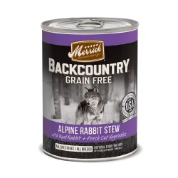 Backcountry Grain Free Alpine Rabbit Stew Canned Dog Food 12.7oz