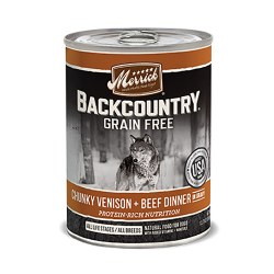 Backcountry Grain Free Chunky Venison & Beef Dinner Canned Dog Food 12.7 oz