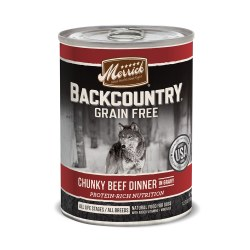 Backcountry Chunky Beef Dinner Canned Dog Food 12.7oz
