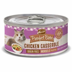 Purrfect Bistro Grain Free Morsels Chicken Casserole Canned Cat Food 5.5oz