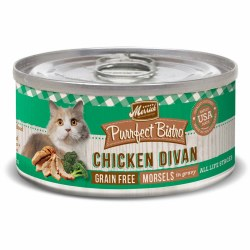 Purrfect Bistro Grain Free Morsels Chicken Divan Canned Cat Food 5.5oz