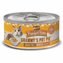 Purrfect Bistro Grain Free Minced Grammy's Pot Pie Canned Cat Food 3oz