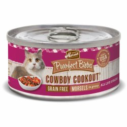 Purrfect Bistro Grain Free Morsels Cowboy Cookout Recipe Canned Cat Food 3oz