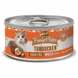 Purrfect Bistro Grain Free Minced Turducken Canned Cat Food 3oz