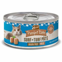 Purrfect Bistro Grain Free Surf & Turf Pate Canned Cat Food 3oz