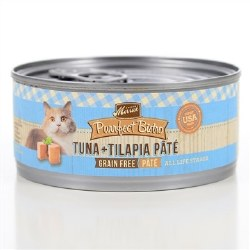 Purrfect Bistro Grain Free Tuna & Tilapia Pate Canned Cat Food 3oz