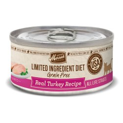 Limited Ingredient Diet Grain Free Real Turkey Recipe Canned Cat Food 5oz