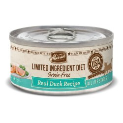 Limited Ingredient Diet Grain Free Real Duck Recipe Canned Cat Food 5oz