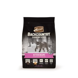 Backcountry Raw Infused Kitten Recipe Dry Cat Food 3lb