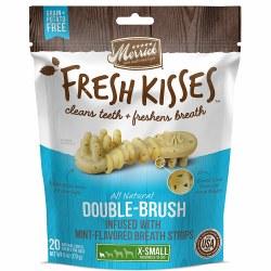 Fresh Kisses Mint Breath Dental Dog Treat X-Small 20ct