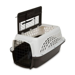 Two Door Top Load Kennel White 19""