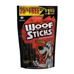 Beef Flavored Woof 'em Down Sticks Dog Treats 7.2oz