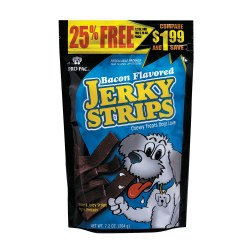 Bacon Flavored Jerky Strips Dog Treats 7.2oz