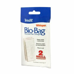 Whisper Bio-Bag Filter Cartridge Assembled Small 2pk
