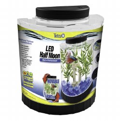 Half-Moon Betta LED Aquarium Kit 1.1gal