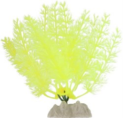 GloFish Fluorescent Plant Yellow Small