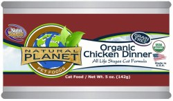Organic Chicken Dinner Canned Cat Food 5oz