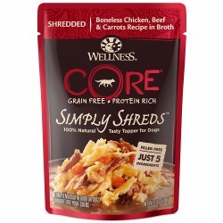 Core Simply Shreds Boneless Chicken, Beef & Carrots Recipe Dog Food Topper 2.8oz