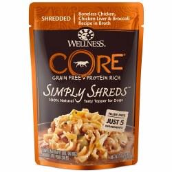 Core Simply Shreds Boneless Chicken, Chicken Liver & Broccoli Recipe Dog Food Topper 2.8oz