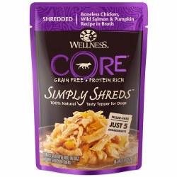 Core Simply Shreds Boneless Chicken, Wild Salmon & Pumpkin Recipe Dog Food Topper 2.8oz