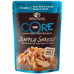 Core Simply Shreds Tuna, Beef & Carrots Recipe Dog Food Topper 2.8oz