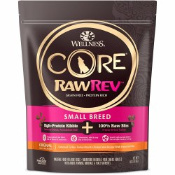 Core RawRev Small Breed + 100% Raw Turkey Raw Freeze Dried Dog Food 4lb