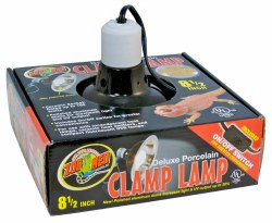 Deluxe Porcelain Clamp Lamp 8.5""
