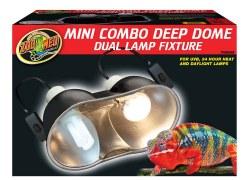 Mini Combo Deep Dome Dual Lamp Fixture