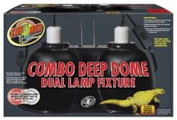 Combo Deep Dome Dual Lamp Fixture