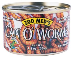 Can O' Worms Canned Reptile Food 1.2oz