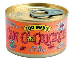 Can O' Mini Crickets Canned Reptile Food 1.2oz