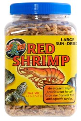 Large Sun-Dried Red Shrimp Reptile Treats 2.5oz