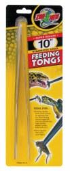 "Super Deluxe 10"" Stainless Steel Feeding Tongs"