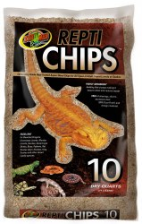 Repti Chips Repti Chips Aspen Wood Reptile Bedding Substrate 10qt