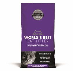 Lavender Scented Multiple Cat Clumping Cat Litter 7lb