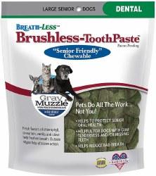 Gray Muzzle Brushless Toothpaste Dental Pet Chews Large