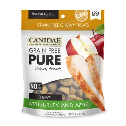 Grain Free Pure Chewy Turkey & Apple Dog Treats 6oz